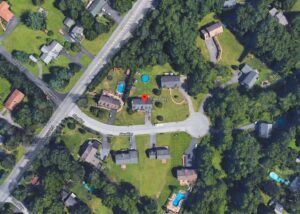 Aerial photo of Alex Way property