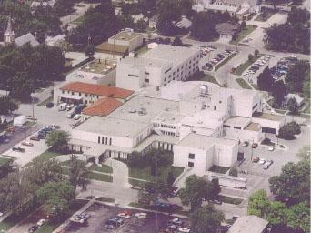aerial photo of Halstead Hospital