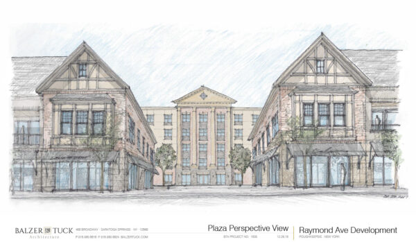 Architect rendering of proposed Raymond Avenue project