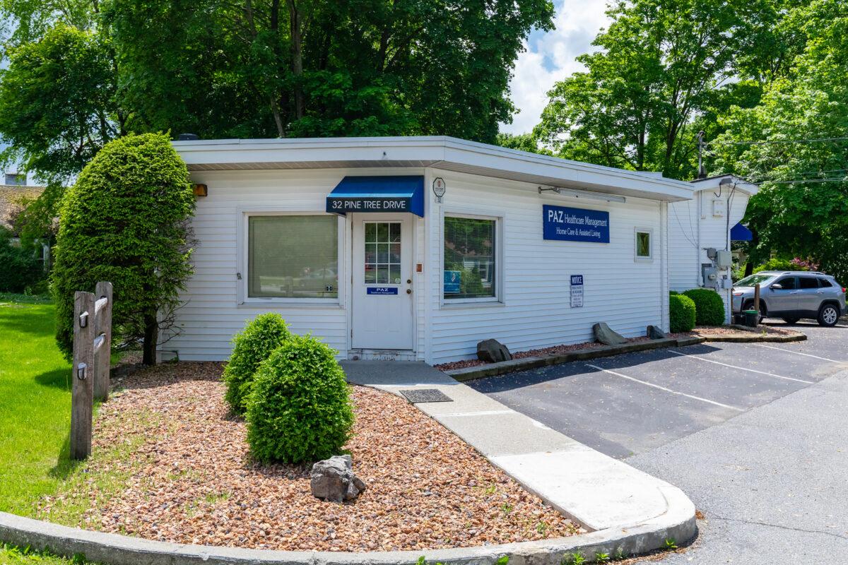 Photo of PAZ Healthcare Management buildingPhoto of front of PAZ Healthcare Management building