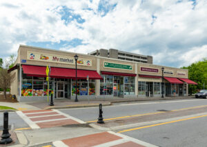 Photo of 5 store fronts at 43-53 Raymond Ave